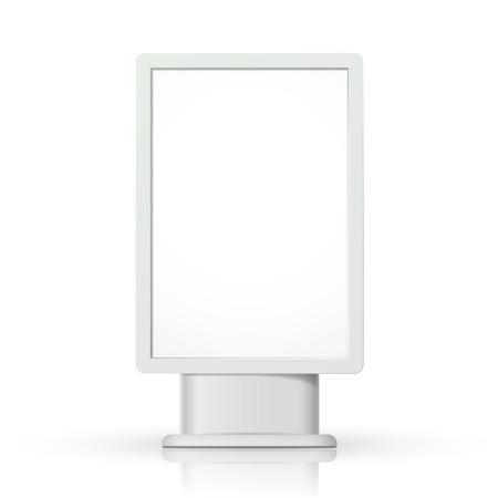 lightbox: 3d vertical blank lightbox template on white background