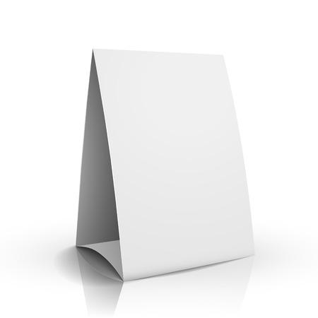 modern 3d blank white paper table card Vector