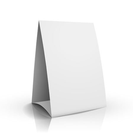 placecard: modern 3d blank white paper table card