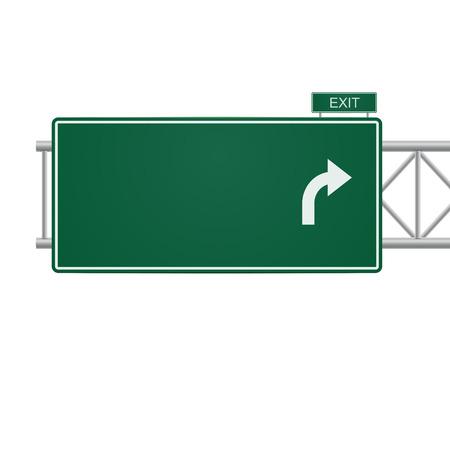 route: 3d signe de route vierge isolé sur blanc Illustration