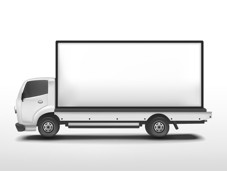 3d blank mobile billboard template isolated on white background Zdjęcie Seryjne - 29432402