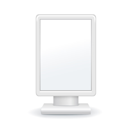 lightbox: blank outdoor advertising lightbox with soft shadow isolated on white background Illustration