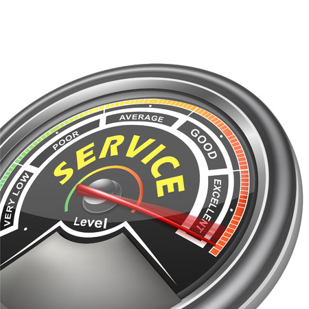 service conceptual meter indicator isolated on white background