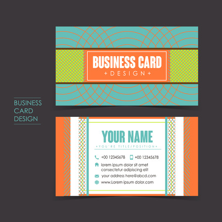 company name: professional vector business card set template design