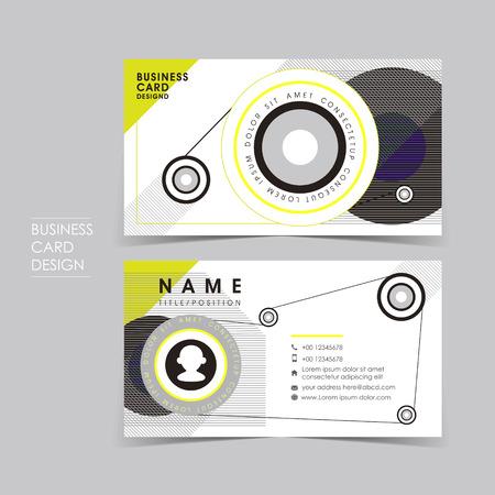 a sense of: vector business card set template with design sense