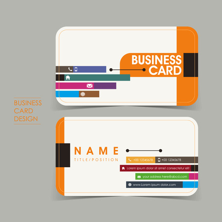 user name: simple vector business card set template design