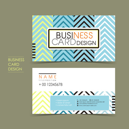 name card: modern vector business card set template design