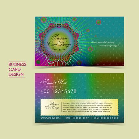 bohemian: bohemian style vector business card set template design Illustration