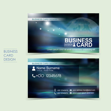 business name: professional vector business card set template design