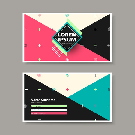 calling art: vector abstract creative business card design template of geometry