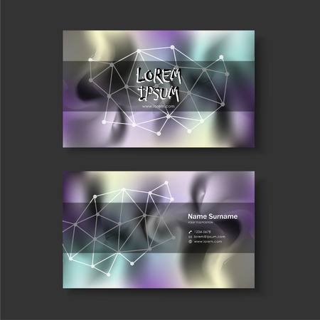 calling art: vector abstract creative business card design template of modern