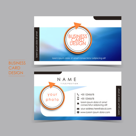 professional ocean style vector business card set template design Vector
