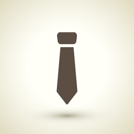 neck ties: retro style necktie icon isolated on brown background Illustration
