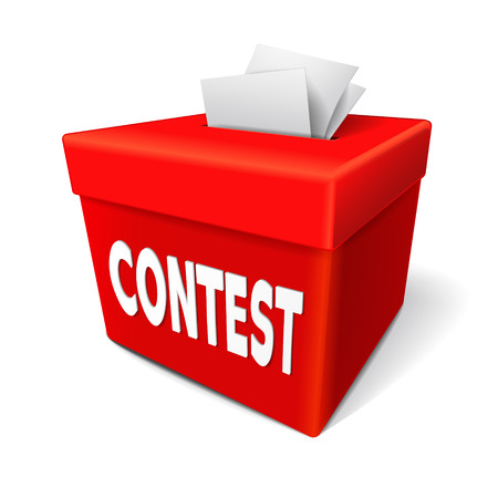 strive for: contest word on the red box with ballots into its slot