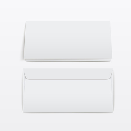 mailer: blank envelopes template isolated over white background