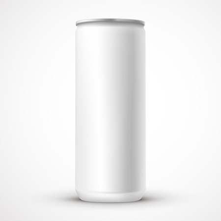 blank aluminum can template isolated over white background Illustration