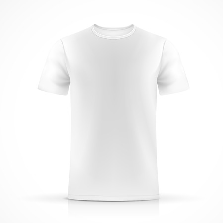 white T-shirt template  isolated on white background