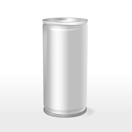 aluminum can: blank aluminum can template isolated over white background Illustration