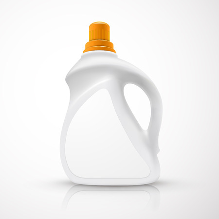 blank laundry detergent bottle isolated over white background Vector