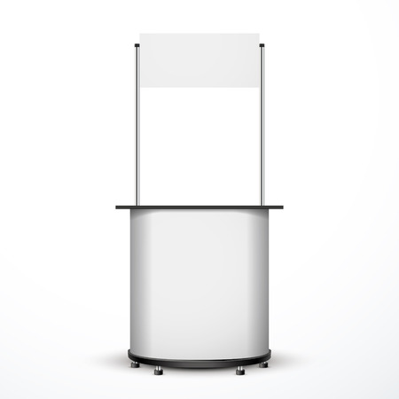 blank exhibition trade stand isolated over white background  Vector