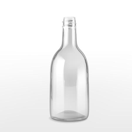 empty glass bottle isolated on white background Illustration