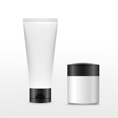 blank Kosmetik-Paket isoliert auf weißem Hintergrund Vektorgrafik