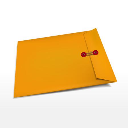 manila: busta di manila ufficio isolato su sfondo bianco Vettoriali