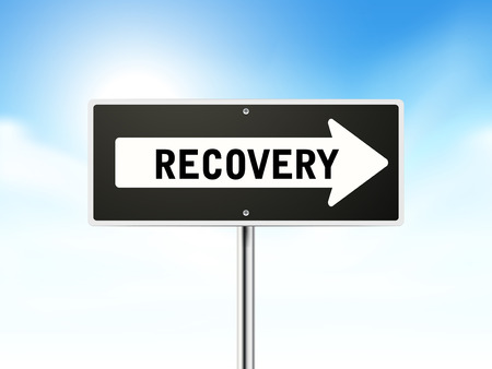 regression: recovery on black road sign isolated over sky