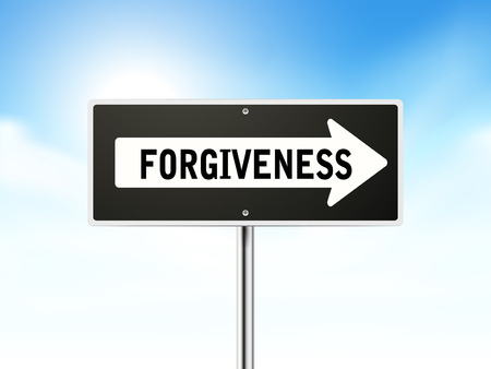 forgiveness on black road sign isolated over sky Stock Vector - 30519126