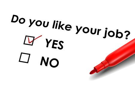 marking up: cerrar hasta mirar pluma roja marca en la casilla de verificaci�n s� para el cuestionario