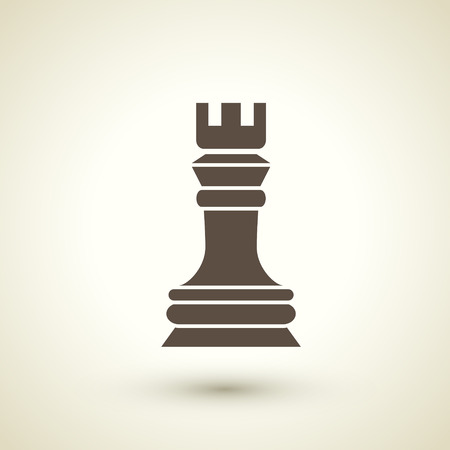 retro flat design icon with chess element over brown background Vector