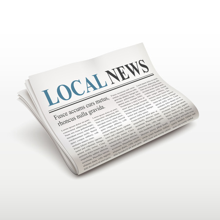 tabloid: local news words on newspaper over white background