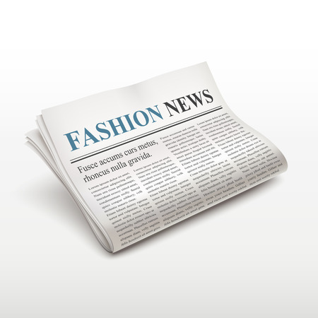 pile of newspapers: fashion news words on newspaper over white background Illustration