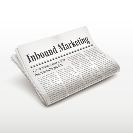 inbound: inbound marketing words on newspaper over white background Illustration
