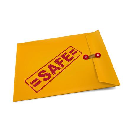 manila: timbro sicuro sulla busta isolato su bianco Vettoriali