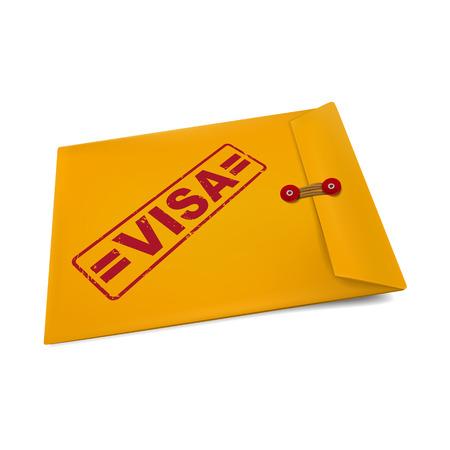 manila: timbro del visto busta isolato su bianco