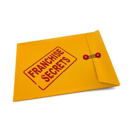 manila: segreti di franchising in busta isolato su bianco