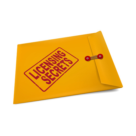 manila: segreti di licenza sulla busta isolato su bianco
