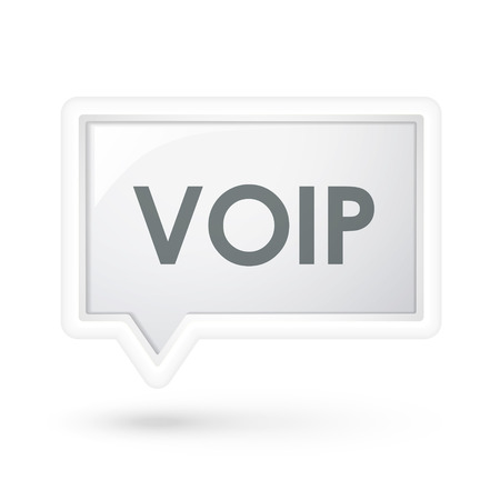 mobile voip: VOID word on a speech bubble over white Illustration