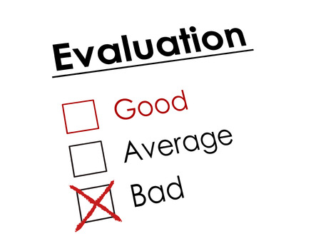 no lines: red cross drawn on evaluation check box  Illustration
