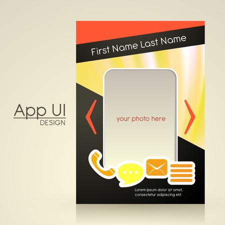interface design: app user interface design in modern style Illustration