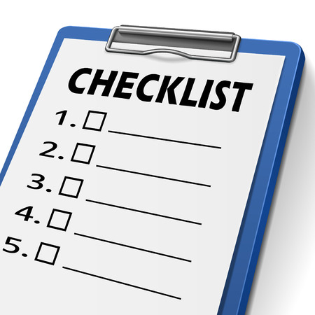 checklist clipboard with check boxes on it Vector