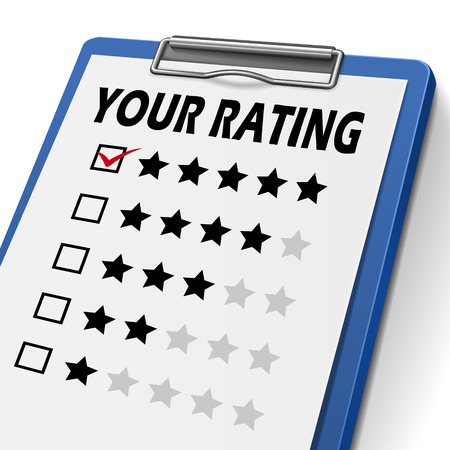 commenting: your rating clipboard with check boxes marked for stars