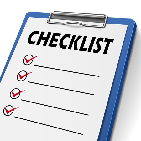 blank checklist clipboard with check boxes on it
