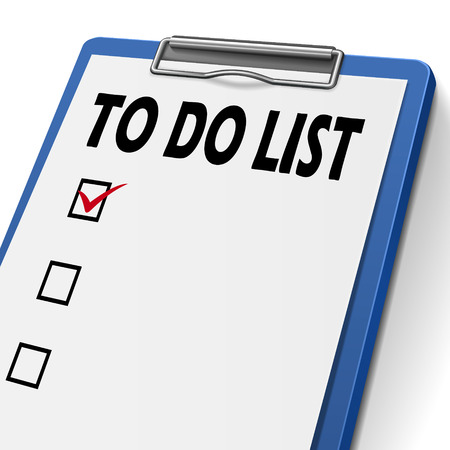 do: to do list clipboard with check boxes on it Illustration