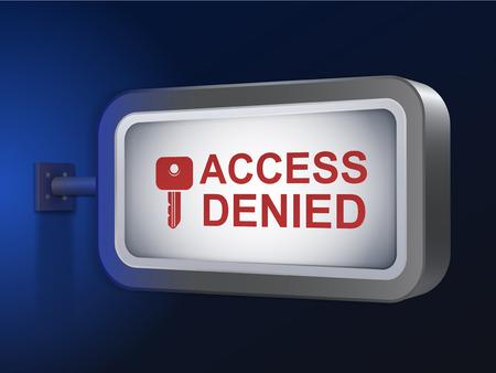 denied: acceso denegado palabras en cartelera m�s de fondo azul