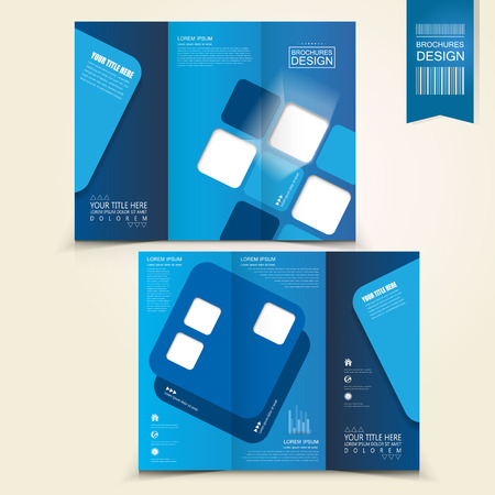 digital abstract: blue template design for business advertising brochure  Illustration