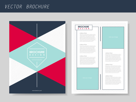 geometric style: geometric style flyer template for business advertising