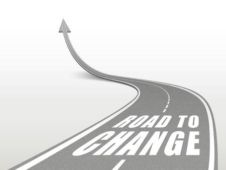 activism: camino para cambiar las palabras en el camino de la carretera que sube como una flecha
