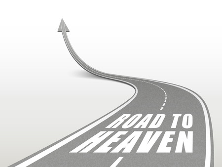 road to heaven words on highway road going up as an arrow Vector